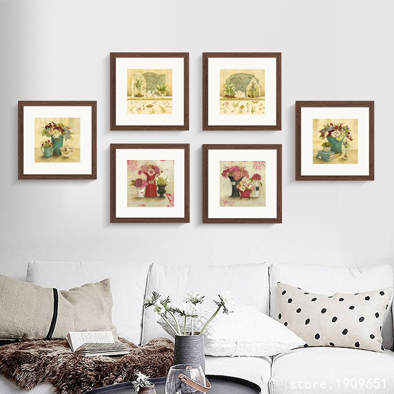 Cotton No Frame Pastoral Still Life Garden Flowers Canvas Printings Oil Painting Printed On Cotton Wall Art Decoration Picture