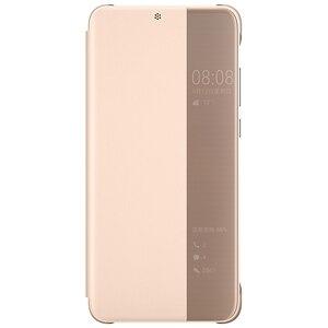 Image 4 - 100% רשמי מקורי Huawei P20 פרו מקרה להתעורר/שינה ציפוי מראה חלון Flip כיסוי עבור Huawei P20 מקרה תצוגה חכמה מקרה