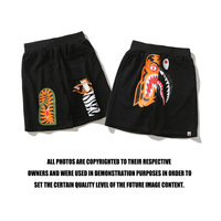 a bathing ape shorts shark X tiger Japanese style style beach casual shorts bathing ape