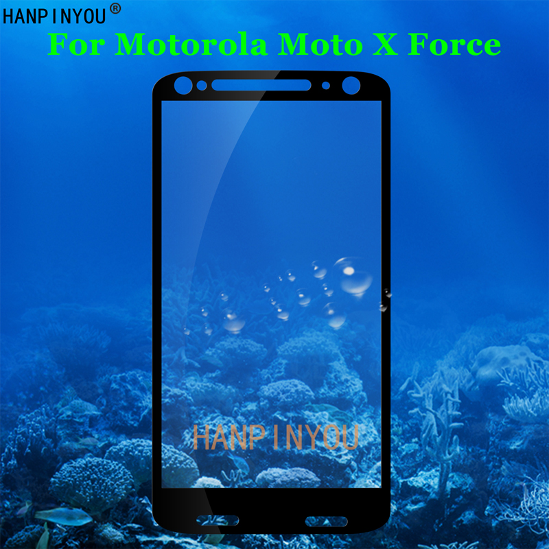 For Motorola Moto X Force / Droid Turbo 2 XT1580 XT1581 5.4 Full Coverage Tempered Glass 9H 2.5D Premium Screen Protector Film image
