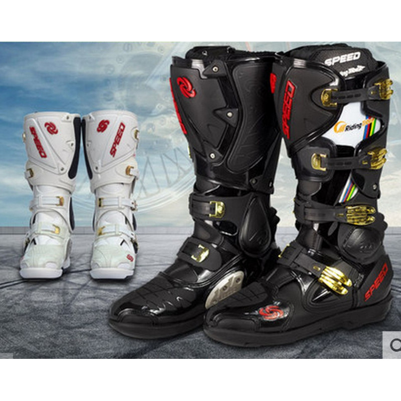 Motocross boots riding boots motorcycle boots male long section of professional racing boots motorcycle shoes ...