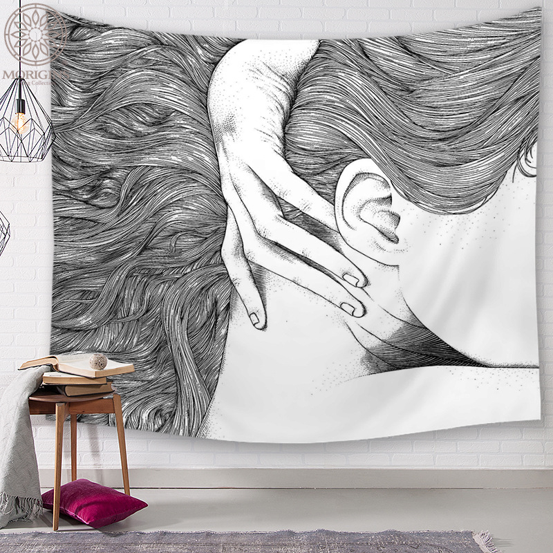 Morigins Boho Decoration Wall Tapestry Europen Style Design Tapestry Wall Psychedelic Decor Christmas Wall Hanging Tapestry