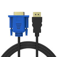 1.8m/3m/5m HDMI TO VGA Cable HDMI Male To Male Cable 1080P HD With Audio Adapter Cable HDMI TO VGA Cable Video Adapter Wire