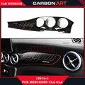 Para mercedes cla w117 GLA X156 kits traço interior de fibra de carbono guarnição interior 2014 +