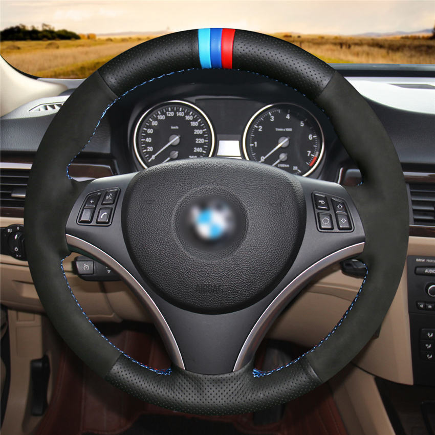 red stitch FITS BMW E36 E39 E46 E90 E91 E92 E93 E81 E87 COVER PERFORATED