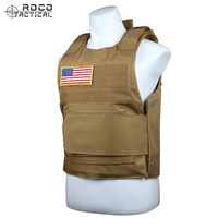 ROCOTACTICAL Ultralight Ballistic Plate Carrier Quick Release Police Swat Vest Tactical Ballistic Armor Plate Carrier Vest