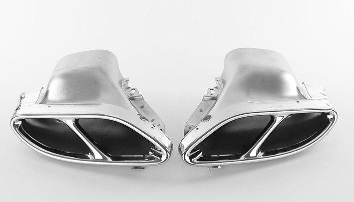 2 шт. Сталь выпускные системы глушитель для Mercedes Benz GLC C E класс C207 Coupe 2014 2017 W212 W213 W205 X253 C180 C200 части автомобиля
