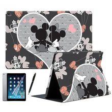 For Apple iPad Air 1 2 9 7 2017 2018 Mini 4 Cartoon Couple Mickey Mouse