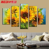 REDIY LADIY Diamond Painting Triptych Diamond Embroidery Crystal Modular Picture Sunflowers Wall Art Multi Picture Home Decor