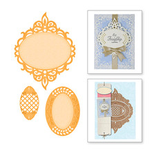 YaMinSanNiO 3 Pcs/lot Lace Metal Cutting Dies Scrapbooking for Card Making Embossing Die Cuts New Craft Oval Frames 2019 Arrival