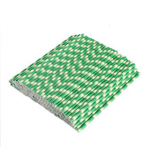 25pcs/lot Bamboo Paper Straws Jungle Party Happy Birthday Decorative Event Tropical Party Supplies Green Drinking Straw