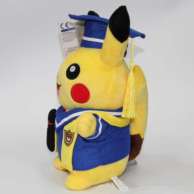 Kawaii Graduation Pikachu Cos Pokeball Cloth Plush Toys Soft Stuffed Animal Dolls for Children\'s Gift 13inch 32cm 2 Styles (11)