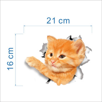 Cats 3D Wall Sticker Toilet Stickers Hole View Vivid Dogs Bathroom Home Decoration Animal Vinyl Decals Art Sticker Wall Poster 16