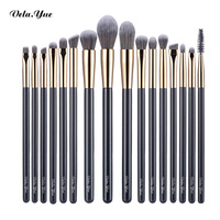 Vela Yue Precise Makeup Brushes Set 16pcs Detail Powder Foundation Blusher Bronzer Eyeliner Shadow Brow Lip