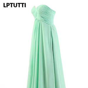 Image 5 - LPTUTTI Strapless Chiffon Plus Size New For Women Elegant Date Ceremony Party Prom Gown Formal Gala Luxury Long Evening Dresses