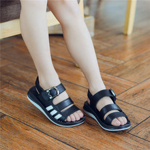 Summer Style Sandals Shoes 2017 Boys Genuine Leather Sandals Children Baby Sandals Shoes Boys Sports Beach Shoes Mocassin Baby