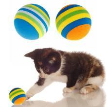 10 unids/set Arco Iris pelota juguetes para mascotas EVA suave gato de perro cachorro gatito jugar divertido colorido regalos de masticar las mascotas productos
