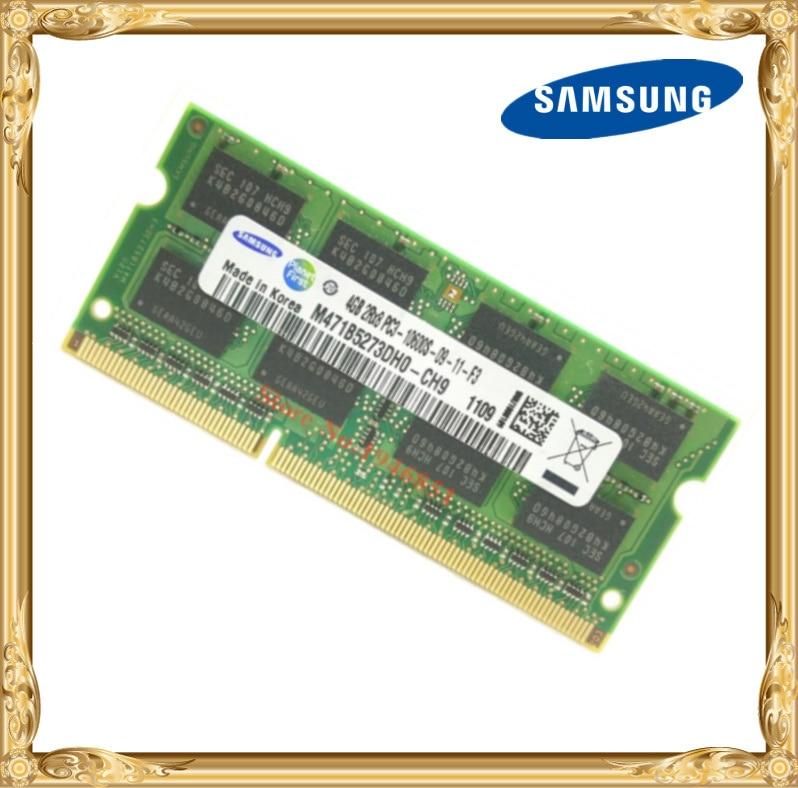 Samsung mémoire D'ordinateur Portable DDR3 4 GB 1333 MHz PC3-10600S portable RAM 10600 4G