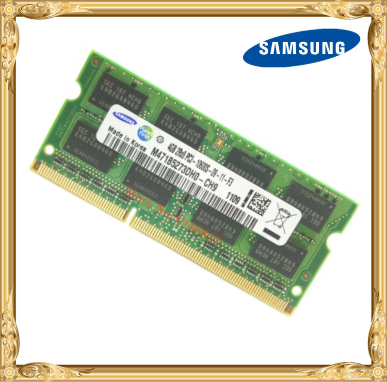 Samsung mémoire D'ordinateur Portable DDR3 4 GB 1333 MHz PC3-10600S portable RAM 10600 4G