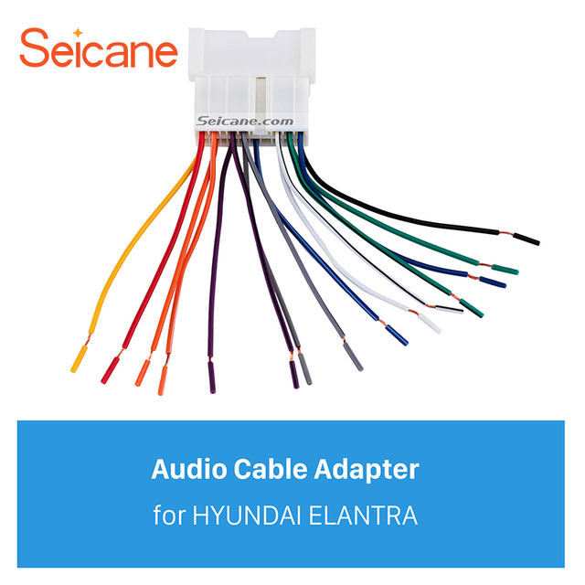 Seicane Car Stereo Wiring Harness Audio Cable Plug Adapter For