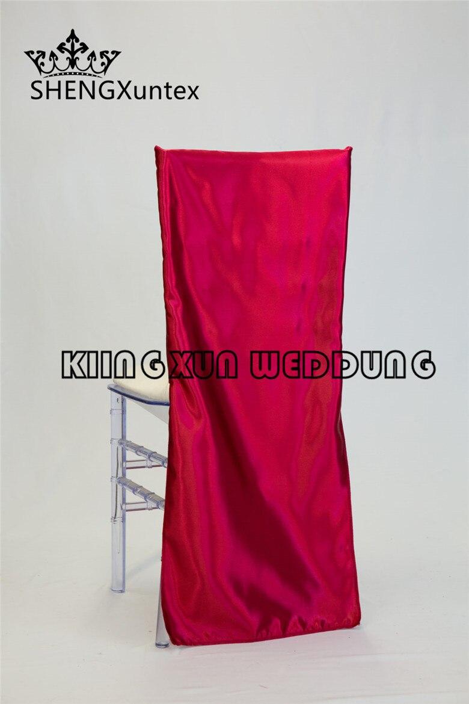 Cheap Price Burgundy Color Satin Chair Cap  Chair Sash Hood Chiavari Chair Cover Free Shipping