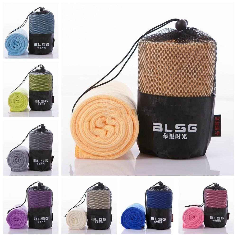 Microfiber Fabric Outdoor Sport Towel Bath Towels Fitness Hip-hop Yoga Swimming Travel Gym Towel With Bag 30cmx100cm XHH8031