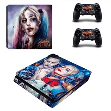Harley Quinn Joker Batman PS4 Slim Skin Sticker For Sony PlayStation 4 Console and Controllers Decal PS4 Slim Sticker Vinyl