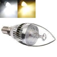 10PCS Bright E14 E27 LED Candelabra Crystal Candle Light Energy Saving Lamp AC 220V White Warm