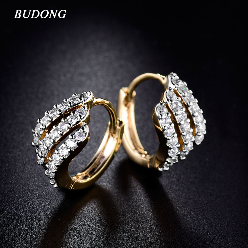 BUDONG Valentine's Day Gift Three Row Fashion Earing for Women - Fashion Jewelry - Photo 1