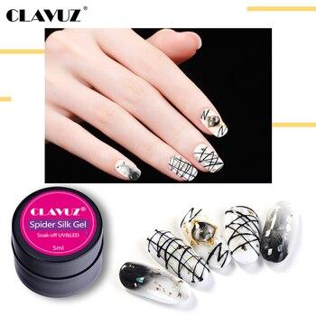 CLAVUZ 4PCS/set 5ML Drawing Spider UV Nail Gel Polish Liner Painting Pulling Silk Spider Manicure DIY Nail Art Decoration Kits 1