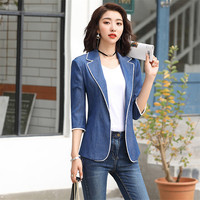 b29970e051 Plus Size Womens Business Suits Jacket Spring Women Blazers For Office  Female Blazers Jackets Short Slim. Plus Size Mulheres Ternos Jaqueta  primavera ...
