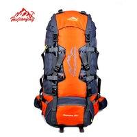 Spor ve Eğlence'ten Tırmanma Çantaları'de 80L Büyük Açık sırt çantası Kamp Seyahat Çantası Yürüyüş Sırt Çantası Unisex Sırt Çantaları Su Geçirmez spor çanta Tırmanma paketi
