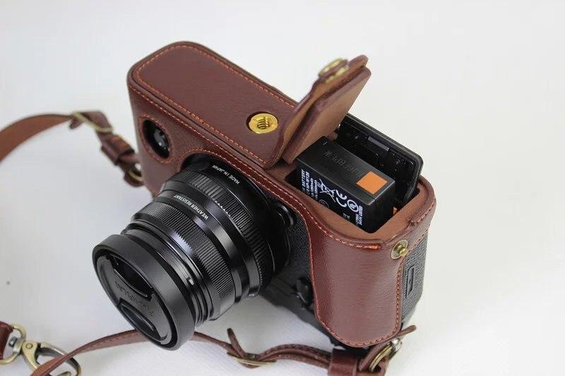 Fujifilm X-PRO2 XPRO 2 Cuero PU Funda Cubierta-Marrón Medio