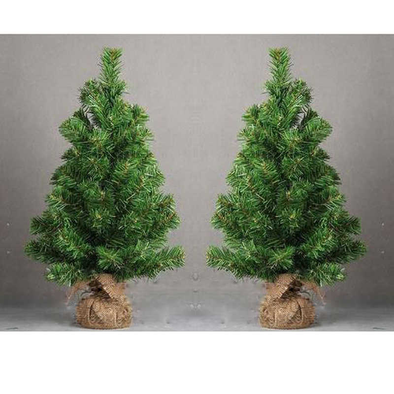 Mini Christmas Tree Holiday Party Birthday Table Desk Artificial Decor 30cm High Pine Tree Xmas Ornaments Kids Festival Gift