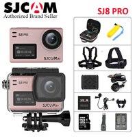 Оригинальный SJCAM SJ8 Pro 4 К 60fps Wi Fi пульт дистанционного шлем Спорт действий Камера 8X зум двойной тачскрин Wi Fi DV полный аксессуары