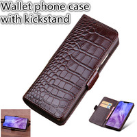 ZD06 Luxury Business Genuine Leather Wallet Case for LG Stylo 4 Flip Case for LG Stylo 4 Phone Case Free Shipping