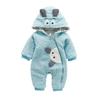 Winter Casual Warm Baby Romper Girls Boys Cotton Infant Hoodies Overalls Clothes Kids Cute Animal Jumpsuit