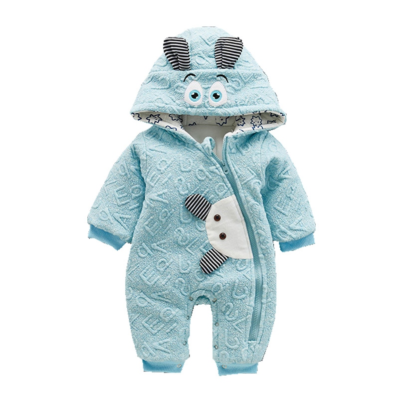 Winter Casual Warm Baby Romper Girls Boys Cotton Infant Hoodies Overalls Clothes Kids Cute Animal Jumpsuit Babies Outerwear kids romper baby halloween boys girls warm infant cool human skeleton long sheeve jumpsuit cotton festival costume
