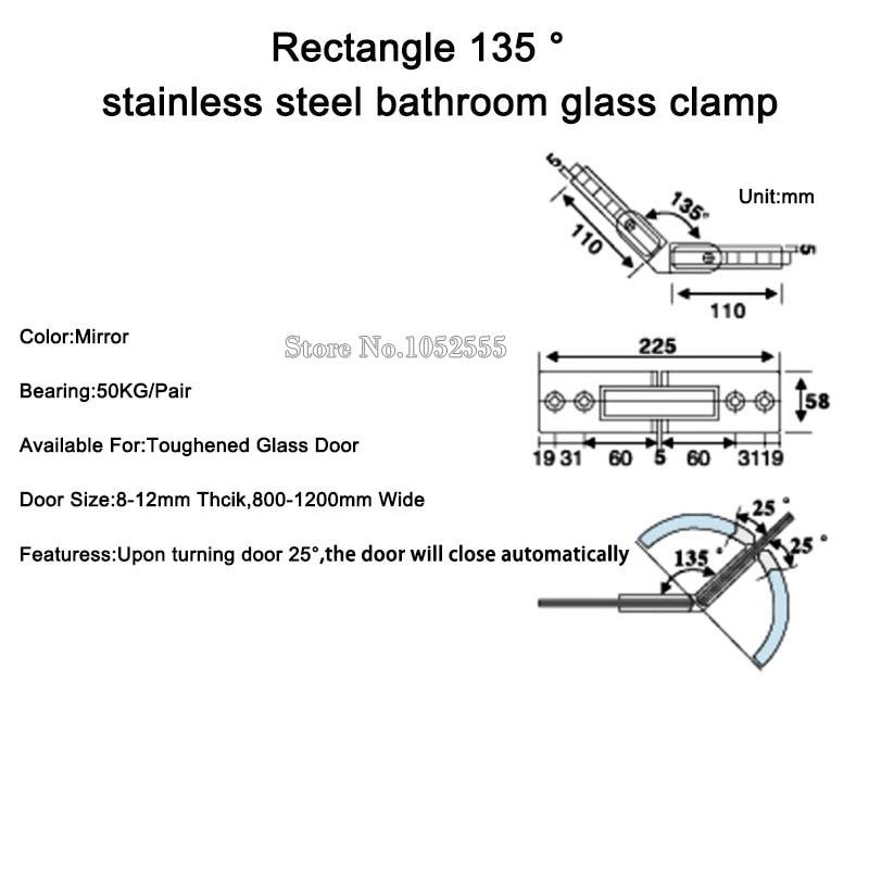 135 Glass Shower Steel