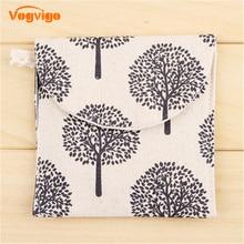 Vogvigo Cosmetic Storage Bag Cartoon Plant Coin Purses Women Wallet Cute Credit Card Holder Key Money Bags Travel Canvas