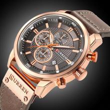 CURREN 8291 Luxury Brand Men Analog Digital Leather Sports Watches Men's Army Military Watch Man Quartz Clock Relojes Masculino