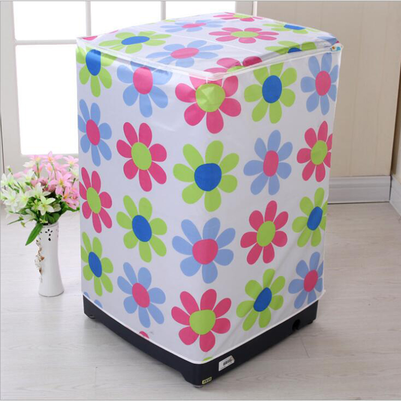Household Washing Machine Dustproof Cover Waterproof Case Bathroom Washing Machine Protective Cover Sunscreen Home Organizer
