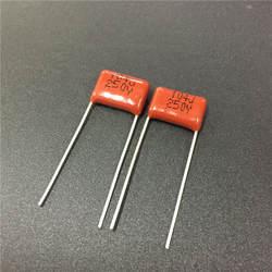 100 шт CBB 104 250 V 104J CBB21 0,1 мкФ 100nF P10 из метализированной полипропиленовой пленки конденсатор