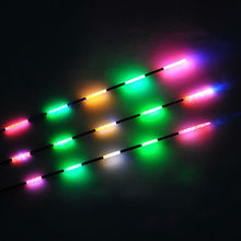 On Light Glow Stick Float Electronic Night Fishing Chemical Fluorescent Rod Clip balsa wood with battery free