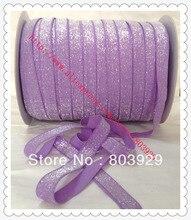 Stretch Metallic Headband Ribbon  Hyacinth Sparkle Ribbon 3 8 Elastic Frosted Hyacinth Glitter Velvet Ribbon
