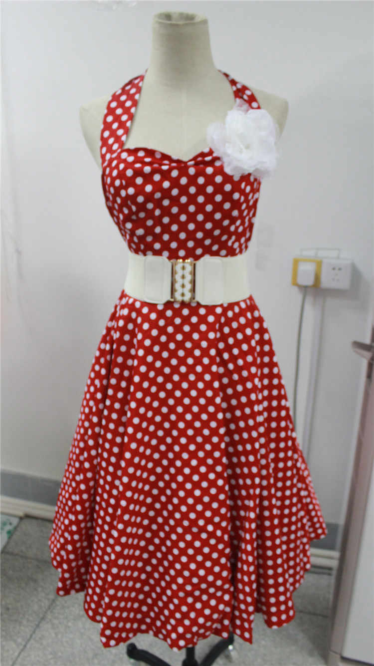 플러스 사이즈 L-6XL Bestdress 빈티지 로커 빌리 레트로 스윙 50s 60s pinup womens flared Peplum Dress walsonrockabilly