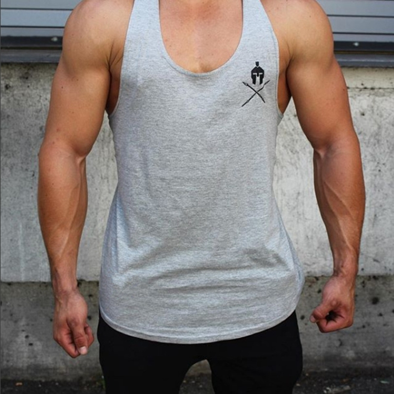 Men Gyms Tank Tops cotton Sleeveless t shirt Fitness Workout Clothing Vest Male Casual Crossfit Sling Undershirt