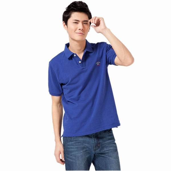 941d3a8658 2014 New Men 100% Cotton Blue Business Casual Short Sleeve Polo Shirt  Breathable Tops S-XXXL DZD-035 Free Shipping