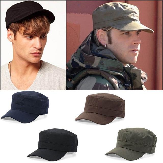 810b90793d0 1PC Classic Women Men Snapback Caps Vintage Army Hat Cadet Military Patrol  Cap Gorras Baseball Unisex