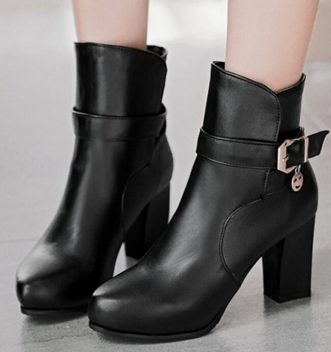 04f3259d46fdf Black Pompes Filles forme Femmes Pour Chaussures Femme Plate Zapatos  Chaussure Mujer white Cheville Bottes Boucle Dames ...